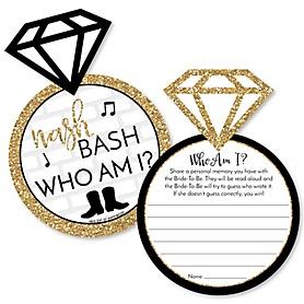 Nash Bash - Nashville Bachelorette Party Game - Who Am I Game Cards - Set of 20
