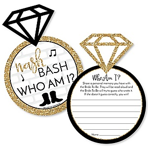 Nash Bash - Nashville Bachelorette Party Game - Who Am I Game Cards - Set of 20