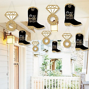 Hanging Nash Bash - Outdoor Nashville Bachelorette Party Hanging Porch & Tree Yard Decorations - 10 Pieces
