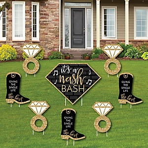 Nash Bash - Yard Sign & Outdoor Lawn Decorations - Nashville Bachelorette Party Yard Signs - Set of 8