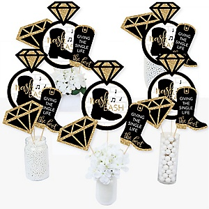 Nash Bash - Nashville Bachelorette Party Centerpiece Sticks - Table Toppers - Set of 15