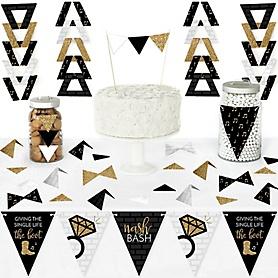 Nash Bash - DIY  Pennant Banner Decorations - Nashville Bachelorette Party Triangle Kit - 99 Pieces