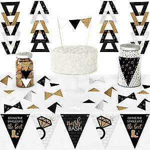 Nash Bash - DIY  Pennant Banner Decorations - Nashville Bachelorette Party Triangle Kit - 99 Pieces