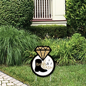 Nash Bash - Outdoor Lawn Sign - Nashville Bachelorette Party Yard Sign - 1 Piece