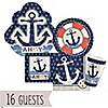Ahoy - Nautical - Baby Shower 16 Big Dot Bundle