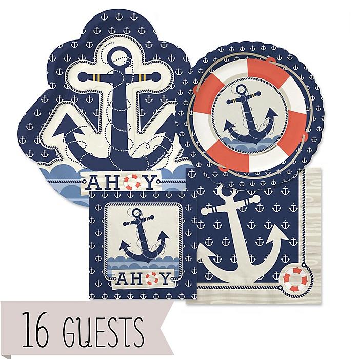 Ahoy - Nautical - Baby Shower 16 Big Dot Bundle