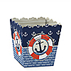 Ahoy - Nautical - Party Mini Favor Boxes - Personalized Baby Shower Treat Candy Boxes - Set of 12