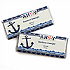 Ahoy - Nautical - Personalized Candy Bar Wrapper Baby Shower or Birthday Party Favors - Set of 24