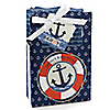 Ahoy - Nautical - Personalized Baby Shower Favor Boxes - Set of 12