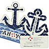 Ahoy - Nautical - Shaped Baby Shower Invitations - Set of 12