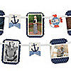 Ahoy - Nautical - Baby Shower Photo Garland Banners