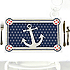 Ahoy - Nautical - Party Table Decorations - Personalized Baby Shower Placemats - Set of 12