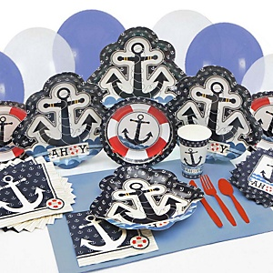 Ahoy - Nautical - Baby Shower Tableware