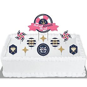 Last Sail Before The Veil - Nautical Bachelorette and Bridal Shower Cake Decorating Kit - Last Sail Before The Veil Cake Topper Set - 11 Pieces