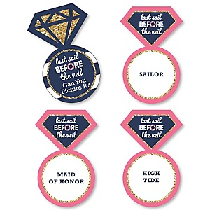 Last Sail Before The Veil - Nautical Bachelorette Party Game - Can You Picture It Card Game - Set of 24