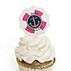 Last Sail Before The Veil - Personalized Bachelorette Party & Bridal Shower Cupcake Picks and Sticker Kit - 12 ct