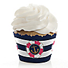 Last Sail Before The Veil - Bachelorette Party & Bridal Shower Decorations - Party Cupcake Wrappers - Set of 12