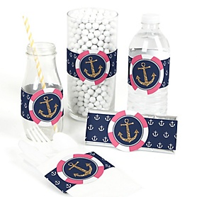 Last Sail Before The Veil - Bachelorette Party & Bridal Shower - DIY Party Wrappers - 15 ct