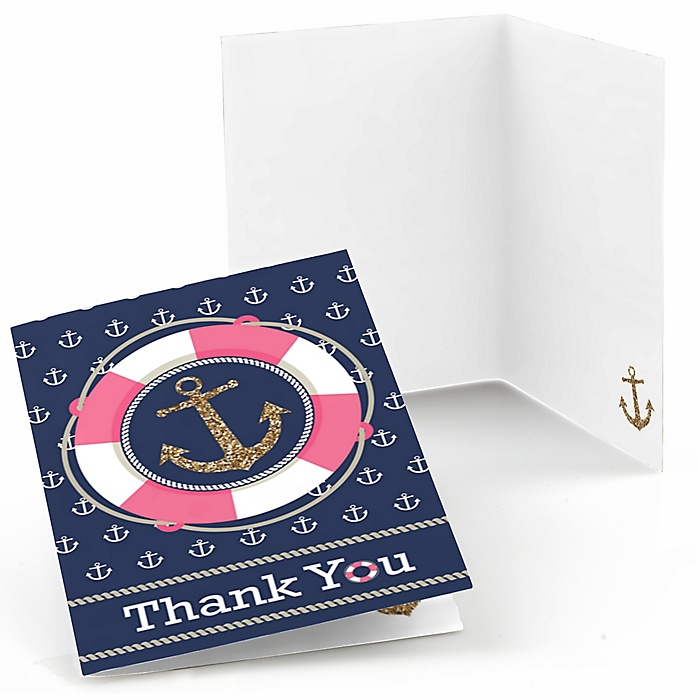Last Sail Before The Veil - Bachelorette Party & Bridal Shower Thank You Cards - 8 ct