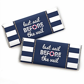 Last Sail Before The Veil -  Candy Bar Wrappers Bachelorette Party & Bridal Shower Favors - Set of 24