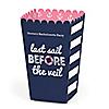 Last Sail Before The Veil - Personalized Bachelorette Party & Bridal Shower Popcorn Favor Treat Boxes - Set of 12
