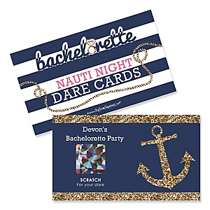last sail before the veil personalized bachelorette party bridal shower game scratch off dare cards 22 ct
