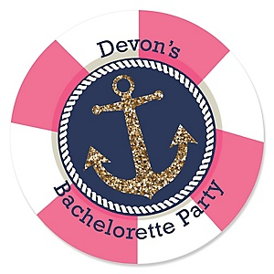 Last Sail Before The Veil - Personalized Bachelorette Party & Bridal Shower Sticker Labels - 24 ct