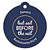 Last Sail Before The Veil - Personalized Bachelorette Party & Bridal Shower Tags - 20 ct