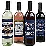 Last Sail Before The Veil - Bachelorette Party & Bridal Shower Wine Bottle Label Stickers - Set of 4