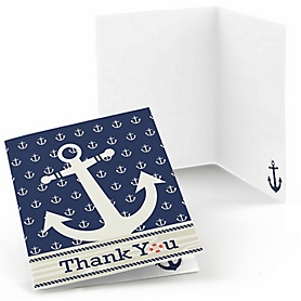 Ahoy - Nautical - Birthday Party Thank You Cards - 8 ct