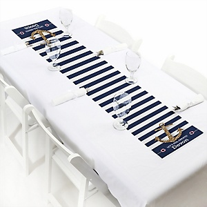 Last Sail Before The Veil - Personalized Bachelorette Party & Bridal Shower Table Runner