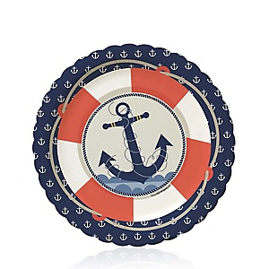 Ahoy - Nautical - Baby Shower Dessert Plates - 8 ct