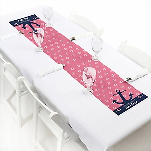 Ahoy - Nautical Girl - Personalized Party Petite Table Runner