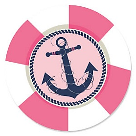 Ahoy - Nautical Girl - Baby Shower Theme