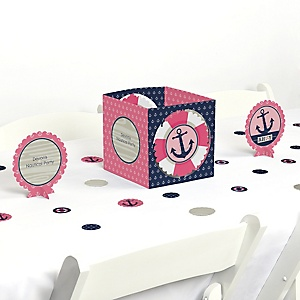 Ahoy - Nautical Girl - Party Centerpiece & Table Decoration Kit