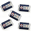 Ahoy - Nautical - Mini Candy Bar Wrapper Stickers - Baby Shower or Birthday Party Small Favors - 40 Count