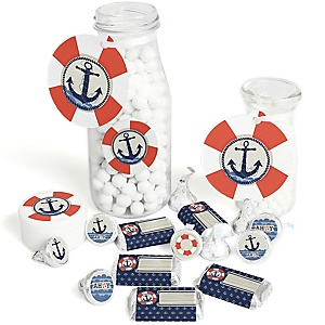 Ahoy - Nautical - Baby Shower or Birthday Party Decorations Favor Kit - Party Stickers & Tags - 172 pcs