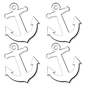 Anchor Foam Board - Shaped DIY Craft Supplies for Resin and Painting - Nautical Blank Foam Board - 4 Piece