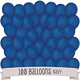 Navy - Baby Shower Latex Balloons - 100 ct