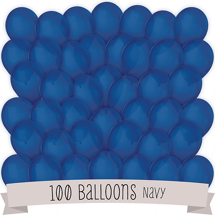 Navy - Party Latex Balloons - 100 ct