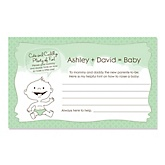 Baby Neutral - Personalized Baby Shower Helpful Hint Advice Cards - 18 ct.