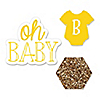 Baby Neutral - Shaped Party Paper Cut-Outs - 24 ct