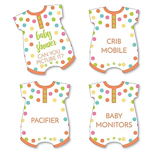 Baby Neutral - Baby Shower Game - Can You Picture It Card Game - Set of 24