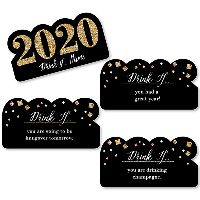 Drink If  - New Year's Eve Party Game - 2020 New Year's Eve Drinking Game - Set of 24