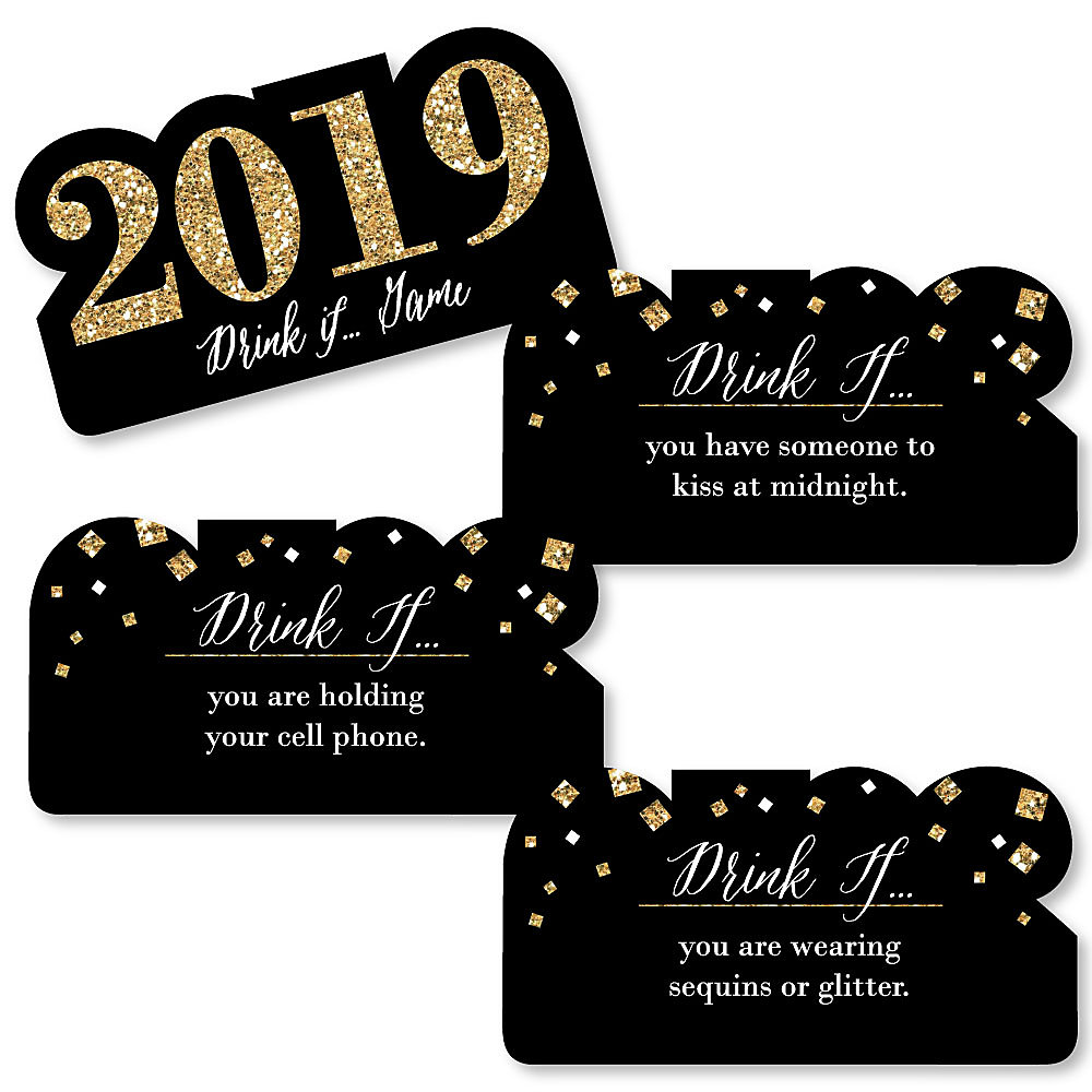 Drink If - New Year\'s Eve Party Game - 2018 New Year\'s Eve Drinking ...
