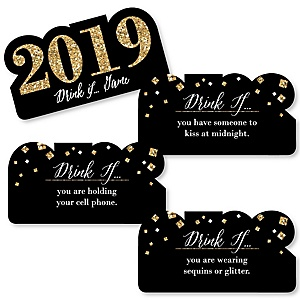 Drink If  - New Year's Eve Party Game - 2019 New Year's Eve Drinking Game - Set of 24