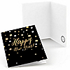 New Year's Eve - Gold - New Year's Eve Thank You Cards - 8 ct