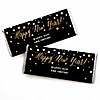 New Year's Eve - Gold - Personalized Candy Bar Wrappers New Year's Eve Favors - Set of 24