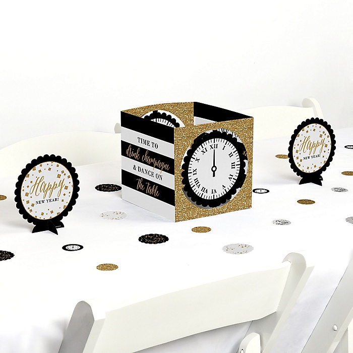 New Year's Eve - Gold - New Years Eve Party Centerpiece and Table Decoration Kit