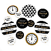 New Year's Eve - Gold - Personalized New Year's Eve Party Giant Circle Confetti - New Year's 2019 Party Decorations - Large Confetti 27 Count